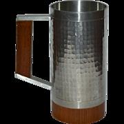 SALE Selangor Hammered Pewter & Wood Tankard or Stein Mug