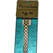 SALE Bowles 10K Gold Filled Watch Strap ~ New Old Stock in Original Package