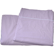 SALE Lady Pepperell 2-Pc Lilac Rose Full Fitted & Flat No Iron Sheet Set