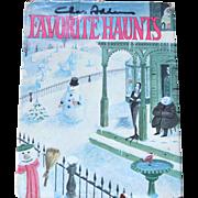 SALE 1976 Chas Addams FAVORITE HAUNTS Cartoon Collection Hardcover Book w/ DJ 1st Ed