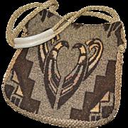 SALE 1960s Carpetbags of America Woodstock Boho Tribal Pattern Handbag Purse