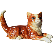 Goebel Rusty/Orange Cat Figurine