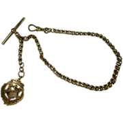"Elegant 1910 ""ROLLER CURB"" gents ""Albert"" watch Chain"