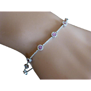 REDUCED Amethyst & Diamond 18k Bracelet