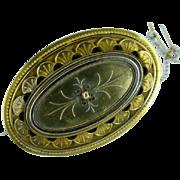 Victorian 18k  GOLD oval Brooch