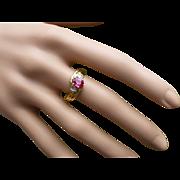 REDUCED Fine Oval RUBY & Diamond 18k Ring