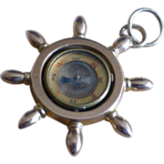 REDUCED Large Ships Wheel / Compass, Vintage Charm / Pendent …..