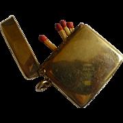 REDUCED 1908 ENGLISH Hallmarked 9 Carat Gold Vesta