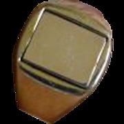 Rectangular reversible Masonic Ring