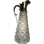 REDUCED 1900 London Hallmarked large Silver / Glass Decanter