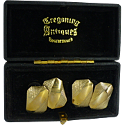 Nine Carat Gold English Vintage Cuff Links