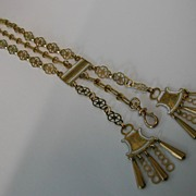 REDUCED Vintage 18 carat Gold CHATELAINE Chain