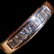 3/4 of a Carat, 0.75,    Princess Cut Diamond Eternity 18k Ring