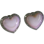 "REDUCED 18k ""Mother of Pearl : & Diamond Ear pieced Clips"
