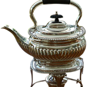 Solid Silver Kettle with spirit Burner, CHESTER 1916