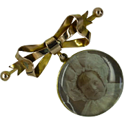 REDUCED 1894 Locket Gold Brooch