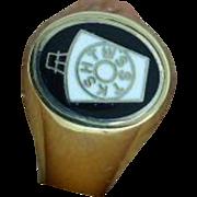 "English ""Mark"" Masonic, Reversible Signet Ring"