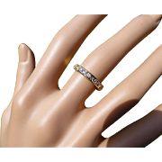 Diamond Baguette & Brilliant Cut Half Eternity Ring