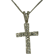 REDUCED 1 Carat + Natural Diamond 18K Cross & Chain