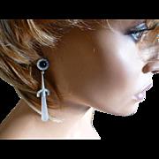 REDUCED Long Ear drops in a Art Deco Style