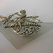 REDUCED Art Deco Style Silver Brooch