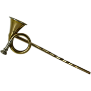 "REDUCED 18k & Platinum ""Hunting Horn"" Stick Pin"