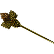 """Black - Hills Gold"" stick Pin"