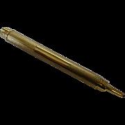 A London 1932 Gold retractable Pencil by  S. Mordan & Co.