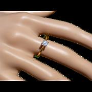 """""""Princess Cut"""" Single Diamond 18k Ring"""