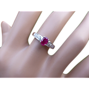 REDUCED Ruby & Diamond White Gold ring