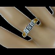 "REDUCED 3 Stone ""Princess"" Cut Natural Diamond Ring * * * * *"