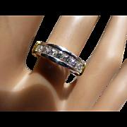 Platinum half Eternity Diamond Ring set with 0.73 cts