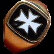 "Reversible MASONIC ""Knights of Malta"" Ring"