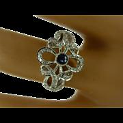 REDUCED Fancy Diamond & Sapphire 18k Ring