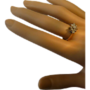 A modest English  Diamond Cluster Ring