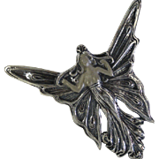 REDUCED Solid Silver Art deco Brooch / pendent