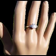 REDUCED The most stunning Emerald Cut & Triangular  Diamond Ring * * * * *