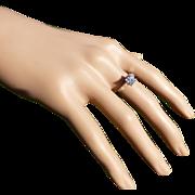 REDUCED The perfect 1 Carat Princess Cut Diamond Set in Platinum Ring