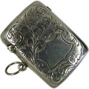 REDUCED 1904 Hallmarked  solid Silver Vesta