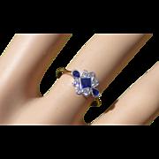REDUCED Fancy Sapphire & Diamond Ring