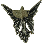 REDUCED Art deco style solid Stirling Silver  Brooch