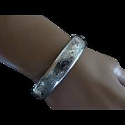 ENGLISH Hand engraved 1964 Silver Bangle * * * * *