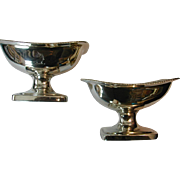 REDUCED Pair of George III Silver Salts By Bateman