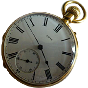 18k Solid Gold Pocket Watch & Stand