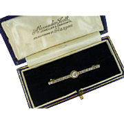 REDUCED Neat, Classic, Early Victorian English Diamond Brooch