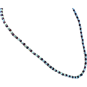 """REDUCED 24"""" Bead Garnet & Cultured Pear Necklace"""