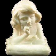 Italian Alabaster Girl Bust