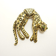 Darling Florenza Movable Tail Leopard Pin