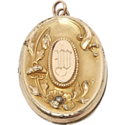 Gold Filled Victorian Repousse Locket Oversize