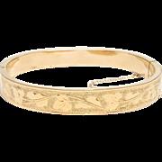 Elegant Victorian Engraved Bangle Bracelet